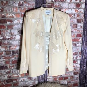 VNT Nolan Miller EUC Beaded Blazer w/ matching top